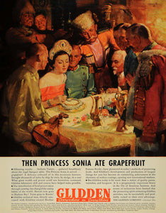 1936 Ad Glidden Lacquer Lining Surface Coating Sonia - ORIGINAL ADVERTISING F6A