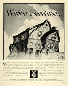 1933 Ad W.F. Hall Printing Solid Home Valentino Sarra - ORIGINAL ADVERTISING F6A