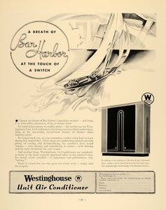 1933 Ad Westinghouse Unit Air Conditioner Micarta Boat - ORIGINAL F6A
