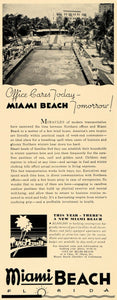 1936 Ad Miami Beach Expansion Winter Home Apts Pricing - ORIGINAL F6B