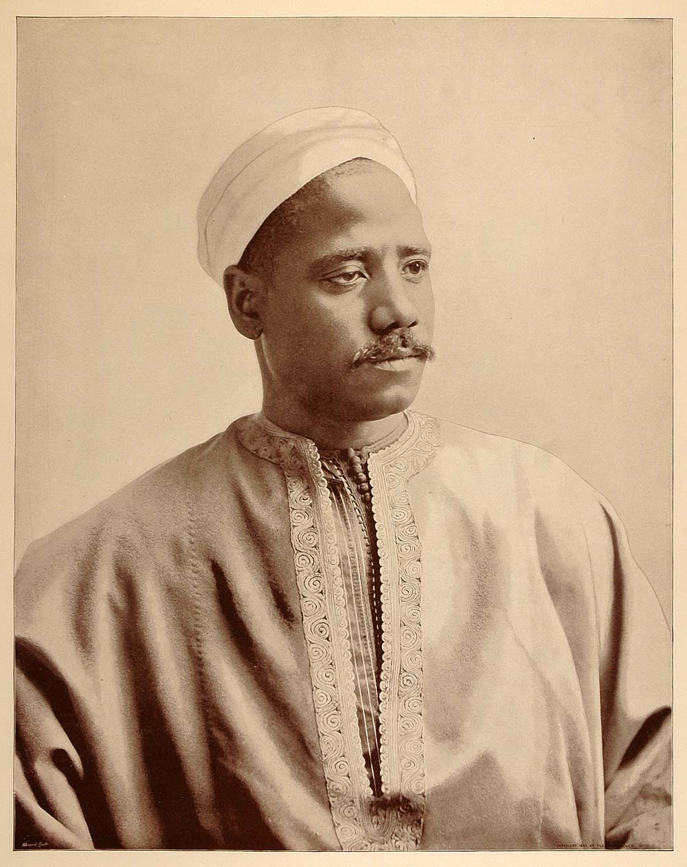 1893 Chicago World's Fair Ethnic Portrait Egyptian Man Turban Camel Boy Costume