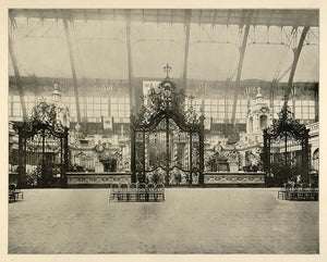 1893 Chicago Worlds Fair German Gates Columbia Avenue ORIGINAL HISTORIC FAI4