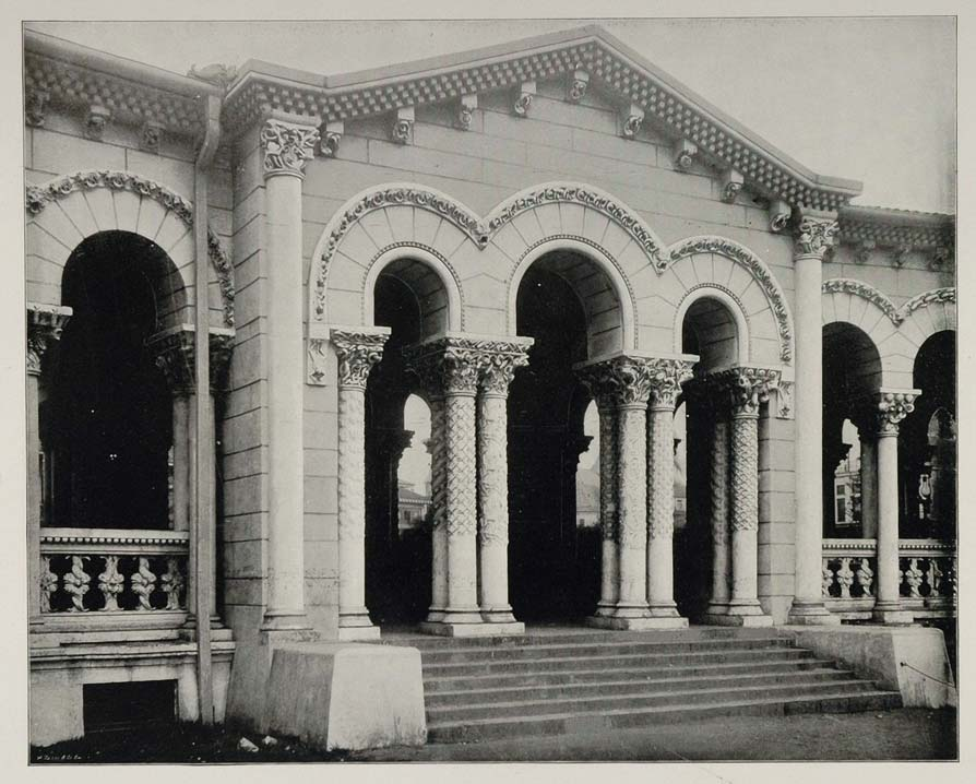 1893 Chicago World's Fair Fisheries Building Arcade - ORIGINAL HISTORIC FAIR3