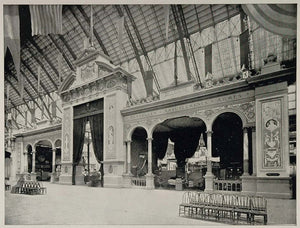 1893 Chicago World's Fair Belgium Portal Facade - ORIGINAL HISTORIC IMAGE FAIR3