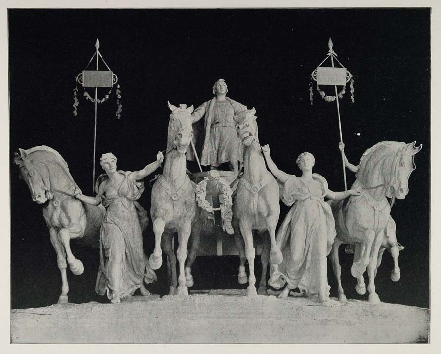 1893 Chicago World's Fair Columbus Quadriga Sculpture ORIGINAL HISTORIC FAIR3