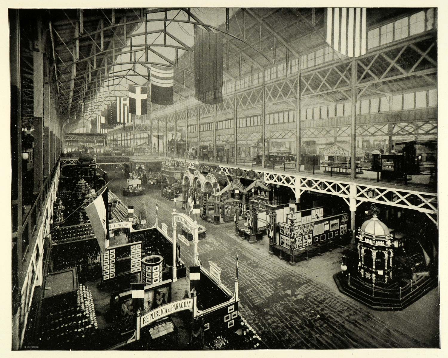 1893 Print Chicago World's Fair Agricultural Building Interior HISTORIC FAR1
