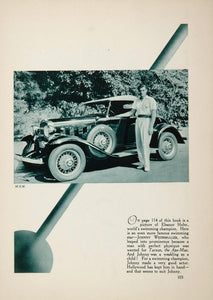 1933 Johnny Weissmuller MGM Actor Vintage Car Print - ORIGINAL FILM