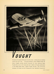 1939 Ad Vought Aircraft United States Navy Hartford Con - ORIGINAL FLY1