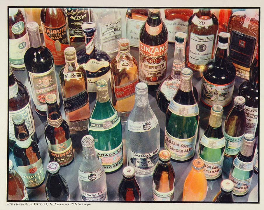 1937 Print Canada Dry Ginger Ale Scotch Whiskey Gin - ORIGINAL
