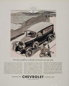 1933 Print Ad Chevrolet Commercial Car Truck Old Gold - ORIGINAL ADVERTISING