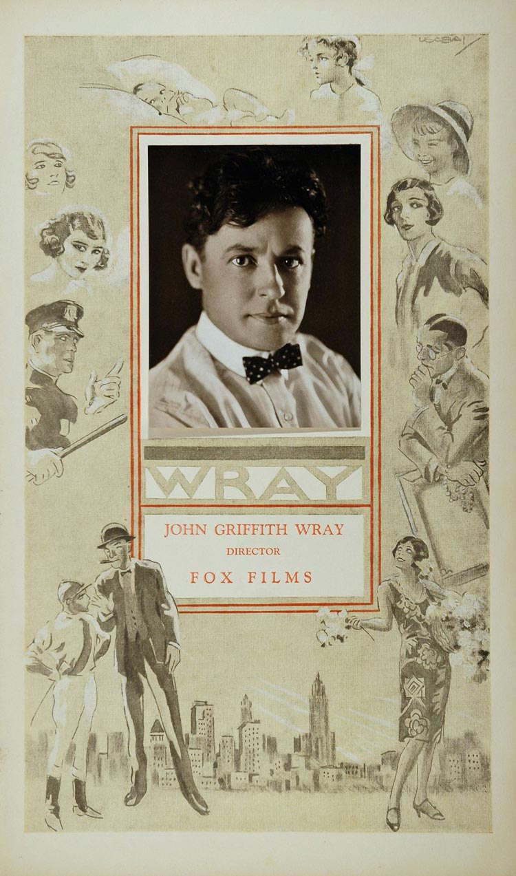 1926 Fox John Griffith Wray Silent Film Director Usabal - ORIGINAL FOX