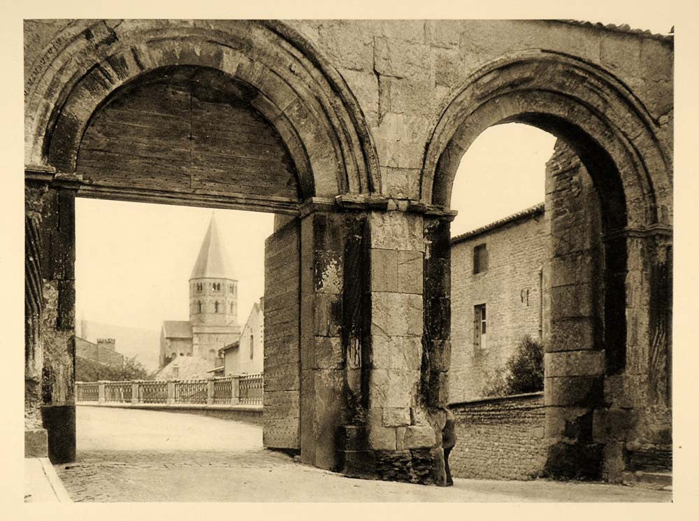 1927 Ruins Abbey Church Cluny France Martin Hurlimann - ORIGINAL FR2