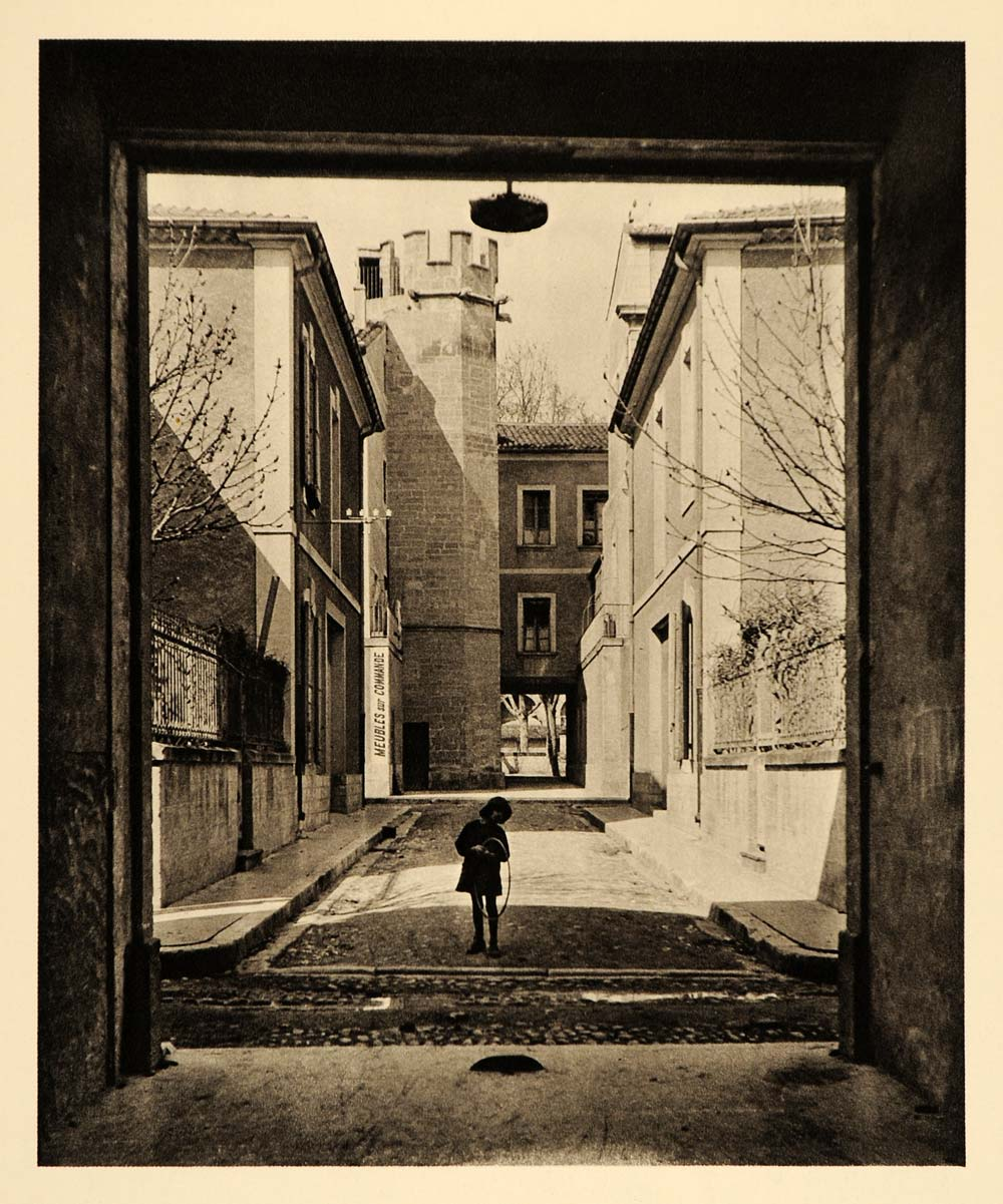 1927 Cavaillon France Martin Hurlimann Photogravure - ORIGINAL PHOTOGRAVURE FR2