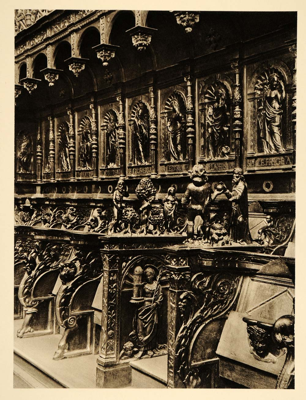 1927 Cathedral Stall Saint-Bertrand-de-Comminges France - ORIGINAL FR2
