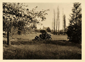 1927 Loches France Landscape Fields Martin Hurlimann - ORIGINAL PHOTOGRAVURE FR2