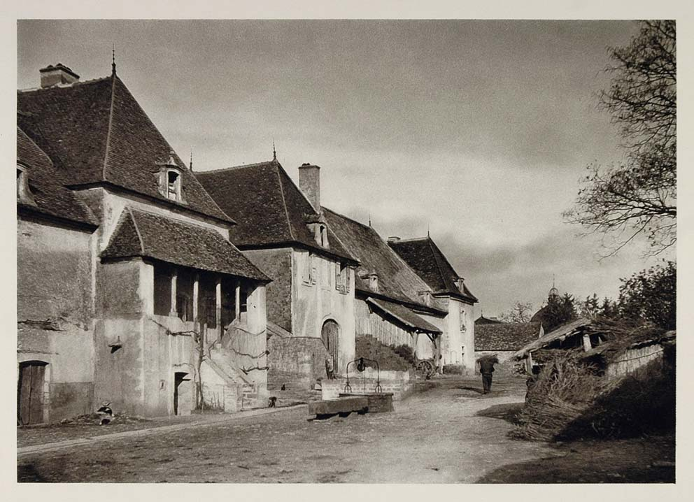 1927 Farm Ferme Finca Burgundy Bourgogne France Print - ORIGINAL PHOTOGRAVURE