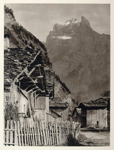 1927 Village Hameau Sixt Danay Mountain France Print - ORIGINAL PHOTOGRAVURE