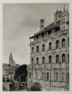 1927 Royal Renaissance Chateau Bois France Hurlimann - ORIGINAL PHOTOGRAVURE