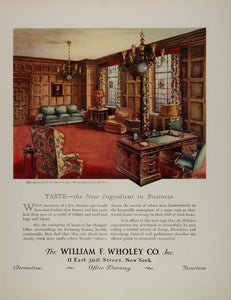1931 Ad Office O. R. Moody Seagraves William F. Wholey - ORIGINAL FT1
