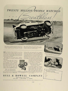 1936 Ad Bell Howell Projector Filmosound 138 Car Wreck - ORIGINAL FT4