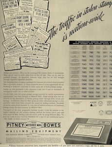 1936 Ad Pitney-Bowes Metered Mail Equipment Postage - ORIGINAL ADVERTISING FT4