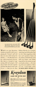 1941 Ad Kroydon Golf Clubs Blue Ribbon Woods Irons - ORIGINAL ADVERTISING FT6A