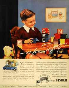 1939 Ad Fisher Automobile Body Boy Building Blocks - ORIGINAL ADVERTISING FT6