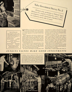 1939 Ad Jenkins Valves National Sugar Refinery Factory - ORIGINAL FT6