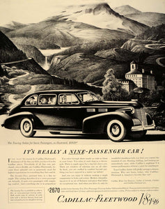 1940 Ad Cadillac Fleetwood Seventy-Two Touring Sedan Automobile Travel FT6