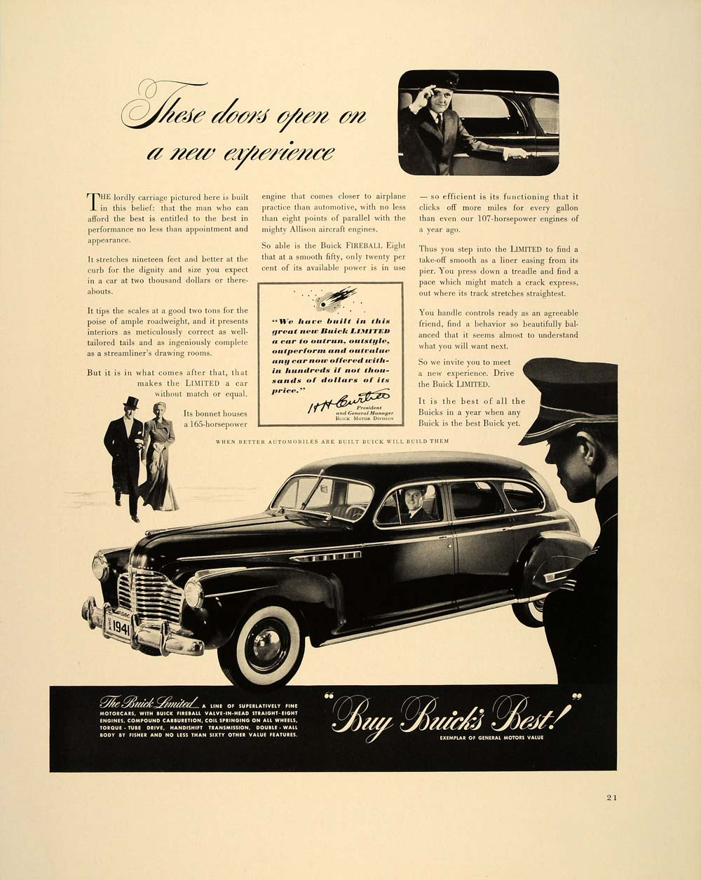 1940 Ad Buick Limited Sedan Vintage Automobile Car - ORIGINAL ADVERTISING FT6
