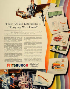 1941 Ad Pittsburgh Color Paint Industrial Finishes - ORIGINAL ADVERTISING FT6
