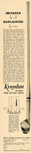 1936 Ad Kroydon Golf Clubs Hy-Power Shaft Power Driver - ORIGINAL FT9