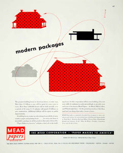 1946 Ad Mead Paper Packages Abstract Matthew Leibowitz Industrial New York FTM1