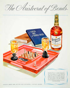 1946 Ad Kentucky Tavern Straight Bourbon Whiskey Chess Game Bonds Alcohol FTM1