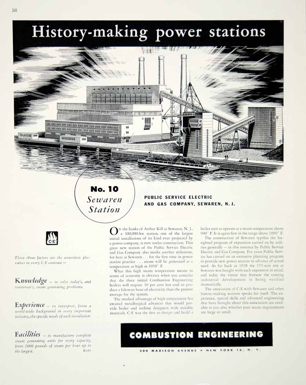 1948 Ad Combustion Engineering 200 Madison Ave C-E Dave Chenoweth Power FTM3