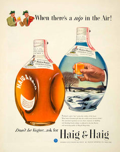 1949 Ad Haig Edinburgh Scotch Whiskies Whiskey Whisky Blended Alcohol FTM4