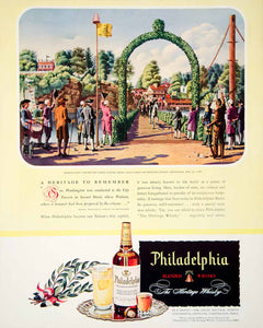 1946 Ad Philadelphia Blended Whisky Heritage President City Tavern Gray's FTM4
