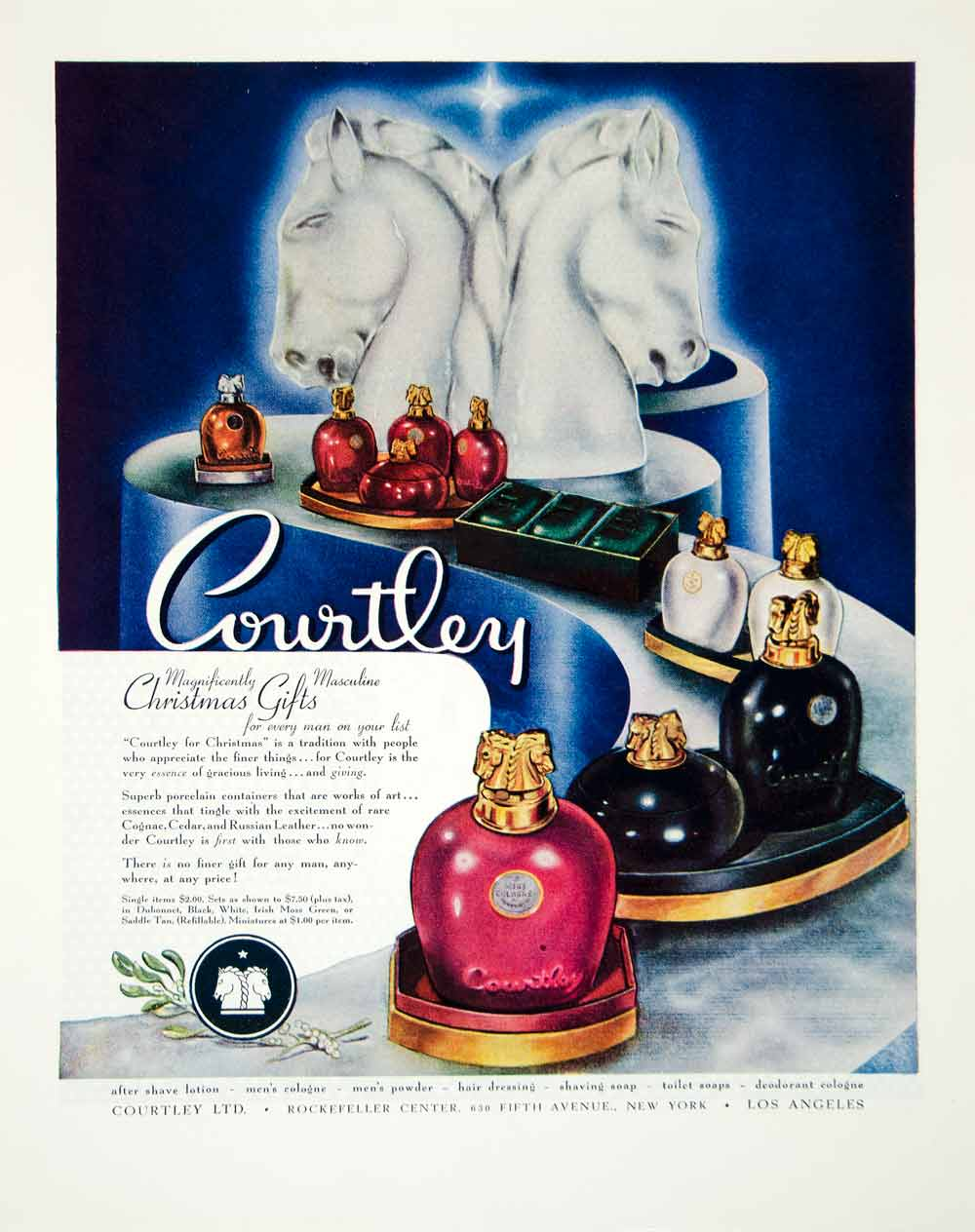 1945 Ad Courtley Fragrances Essences Perfume Soap Toiletries Masculine FTM4