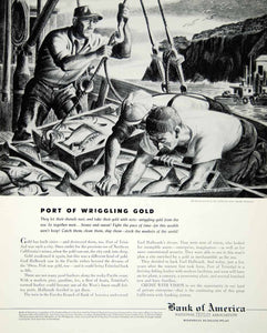 1947 Ad Amado Gonzales Port Fishermen Fishing Bank America Gold Earl FTM