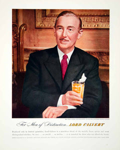 1947 Ad Lord Calvert Paul Lukas Academy Award Winner Whisky Whiskey Portrait FTM