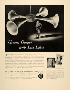 1937 Ad Pneumatic Scale Packaging Quaker Oats Quincy - ORIGINAL ADVERTISING FTT9
