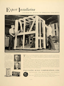 1937 Ad Installation Construction Pneumatic Scale - ORIGINAL ADVERTISING FTT9
