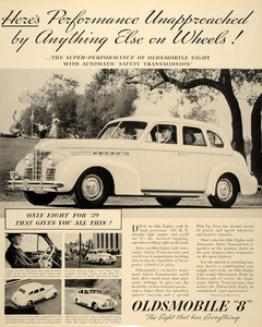 1939 Ad Oldsmobile 8 Automobile Mobile Auto Engine - ORIGINAL ADVERTISING FTT9