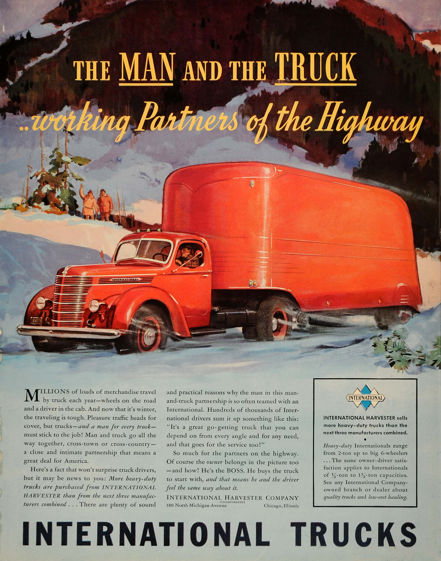 1939 Ad International Trucks Highway Automobile Auto - ORIGINAL ADVERTISING  FTT9