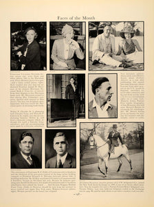 1934 Peggy Joyce Harriman Constance Netcher Cobb Faces ORIGINAL HISTORIC FTT9