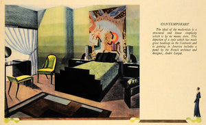 1930 Print Contemporary Bedroom Andre Curgat Architect - ORIGINAL FTZ1