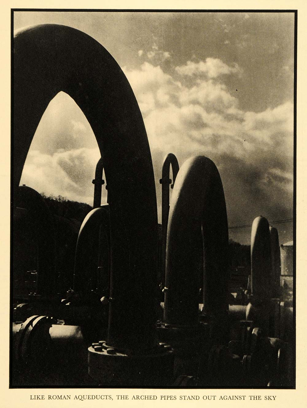 1930 Print Arched Pipes Roman Aqueduct Imitations Art - ORIGINAL HISTORIC FTZ1