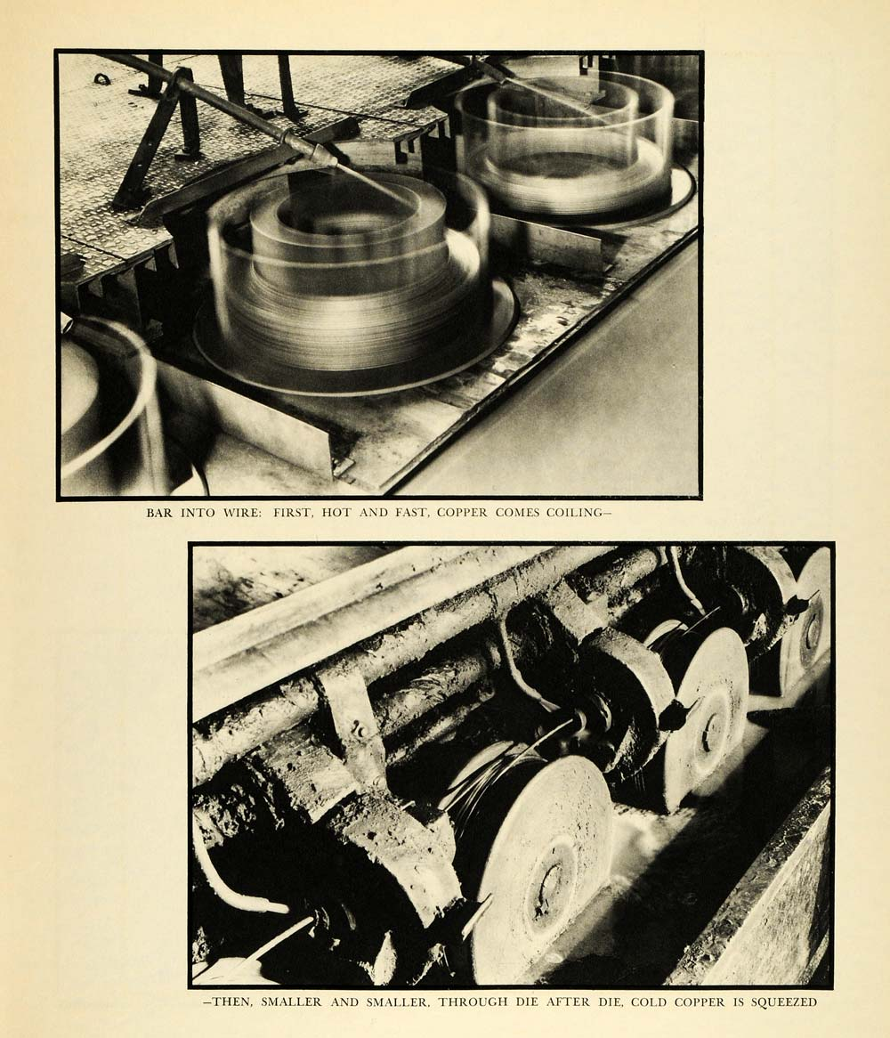 1932 Print Metal Bar Wire Margaret Bourke-White Copper Metallic Die FZ1