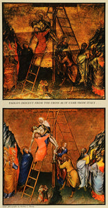 1937 Print Paolo Descent Cross Christianity Religion Art Jesus Restoration FZ3