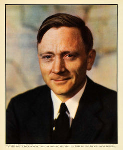1938 Print Portrait William Douglas Frittita Justice Supreme Court Portrait FZ3